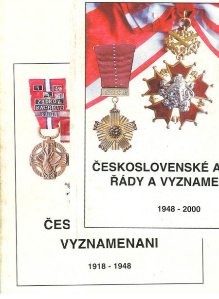 Ceskoslovenska vyznamenani (I p. 1918-1948, II p. 1948-2000) / Награды Чехословакии (I часть 1918-1948, II часть 1948-2000)