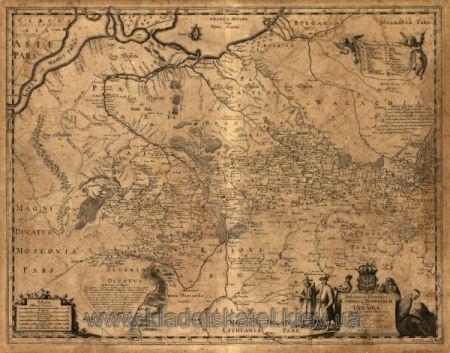 Старинная карта Украины 1648 года. Скачать бесплатно