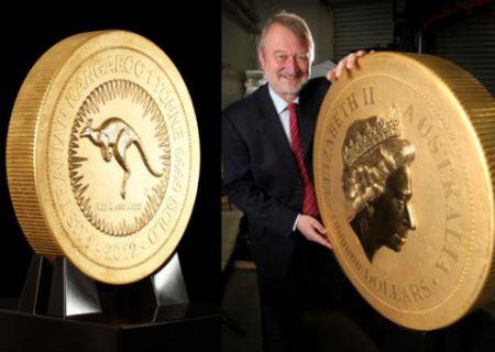 Золота монета вагою 1 тонна