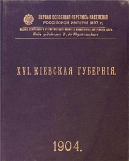 Первая всеобщая перепись населения Российской Империи, 1897. Киевская губерния