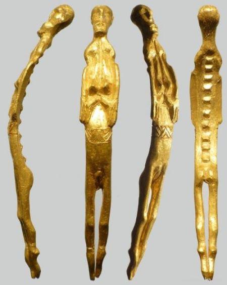 Уникальная женская золотая фигурка обнаружена в Дании