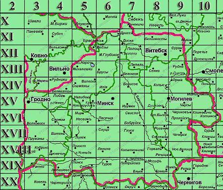 Скачать карты Шуберта (трехверстовки)  Белоруссии с привязкой OZI Explorer
