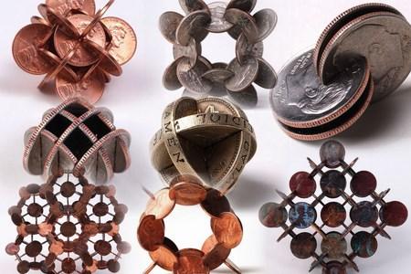 Скульптуры из монет