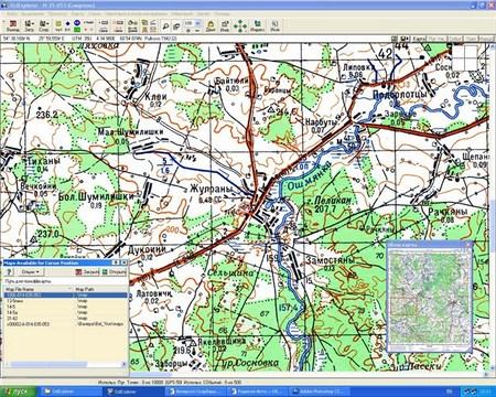 Привязка старинных карт (работа с GPS)