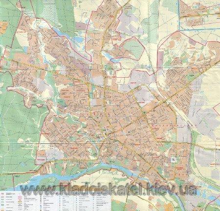 Карта Житомира