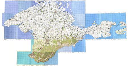 Склеенные километровки Крыма
