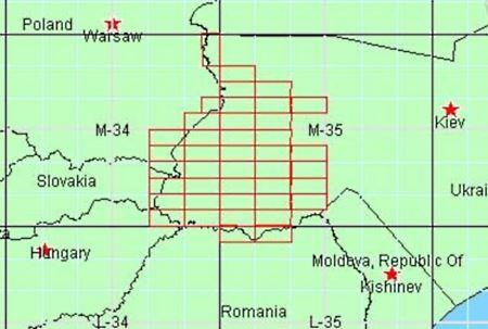 Топографические карты Карпат + запад Украины