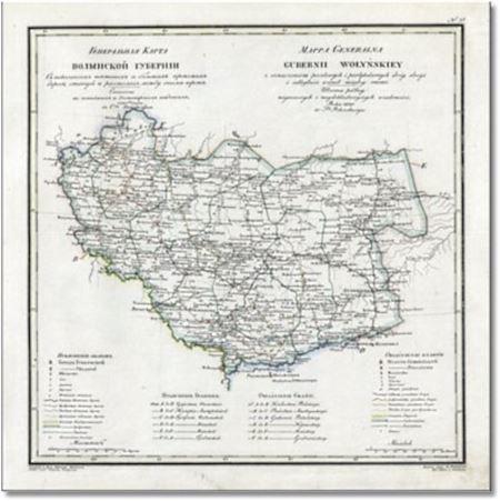 Карта Волынской губернии