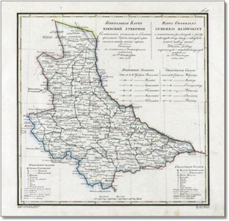 Карта Киевской губернии