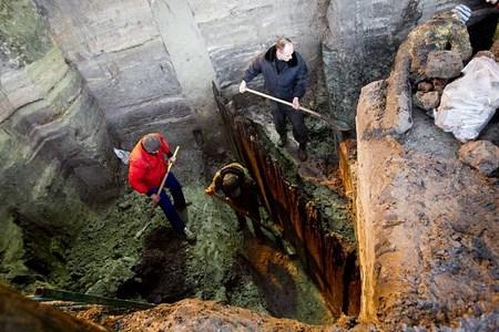 На Почтовой площади в Киеве обнаружены остатки древнего города
