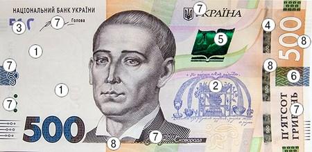 Введена в обращение новая 500-гривневая купюра