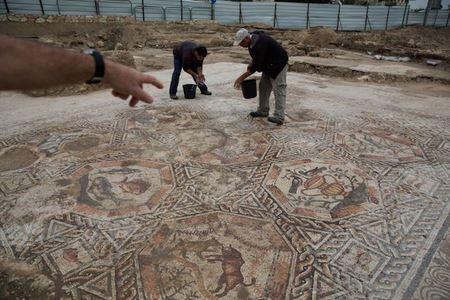 В Израиле обнаружена идеально сохранившаяся мозаика времени Римской империи