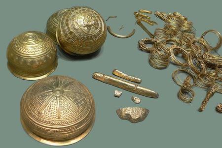 Крупнейшее собрание доисторических золотых изделий, когда-либо обнаруженное на территории Германии