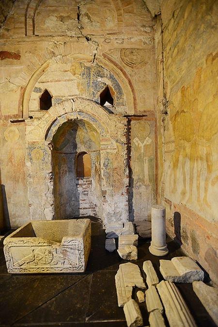 В Софии Киевской обнаружили уникальную надпись, оставленную тысячу лет назад