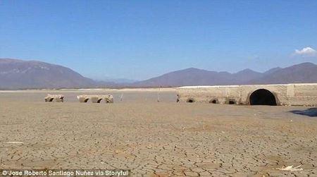 Засуха в Мексике обнажила стены древнего храма