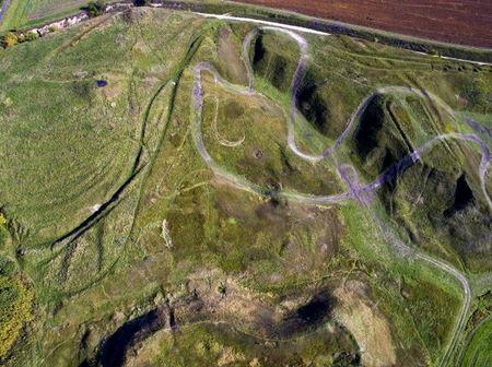 Як виглядає з висоти давнє слов'янське поселення на Рівненщині