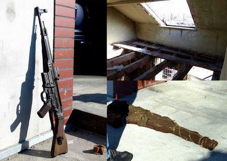 Во время ремонта кровли поляк обнаружил винтовку Sturmgewehr 44