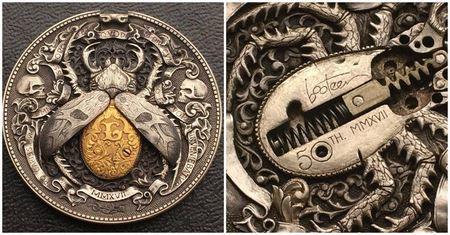 Русский мастер гравировки создал уникальную монету