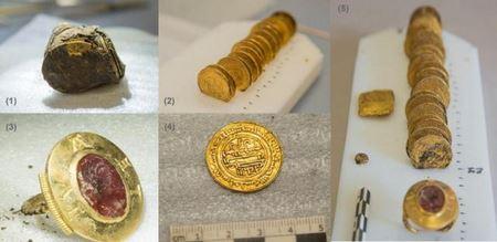 Французским археологам удалось найти более 2000 монет и несколько золотых украшений