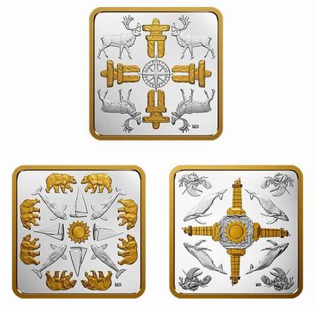 Королевский монетный двор Канады выпустил квадратную монету