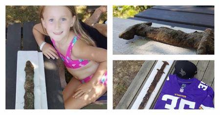 Восьмилетняя девочка во время купания в шведском озере нашла меч довикинговой эпохи