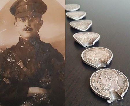 Как мелочь в кармане спасла жизнь бельгийского солдата